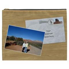 Postcard From Usa Cosmetic Bag Xxxl By Deborah   Cosmetic Bag (xxxl)   26f0fkzzd8op   Www Artscow Com Front