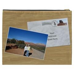 Postcard From Usa Cosmetic Bag Xxxl By Deborah   Cosmetic Bag (xxxl)   26f0fkzzd8op   Www Artscow Com Back