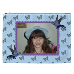Butterflies And Humming Birds Cosmetic Bag (xxl) 2 Sides By Kim Blair   Cosmetic Bag (xxl)   Ipgmbv8ap2ep   Www Artscow Com Front