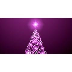 Merry Christmas Pink 3d Card By Deborah   Merry Xmas 3d Greeting Card (8x4)   3b85syu3084y   Www Artscow Com Back