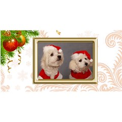 Bells Christmas 3d Card By Deborah   Merry Xmas 3d Greeting Card (8x4)   K0936acbtbzd   Www Artscow Com Front
