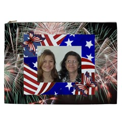Fireworks Cosmetic Bag (xxl) 2 Sides By Kim Blair   Cosmetic Bag (xxl)   Medeah9gf6wu   Www Artscow Com Front