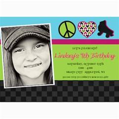 Roller Skate Birthday Invitation By Lana Laflen   5  X 7  Photo Cards   68t6kfonw3eq   Www Artscow Com 7 x5 Photo Card - 7