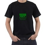 Splotter T-Shirt Black with Green - Men s T-Shirt (Black) (Two Sided)