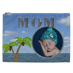 Mom Tropical Xxl Cosmetic Bag By Lil    Cosmetic Bag (xxl)   12g36pj52w4l   Www Artscow Com Front