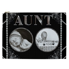 Aunt Xxl Cosmetic Bag By Lil    Cosmetic Bag (xxl)   Ush7wpbygamt   Www Artscow Com Front