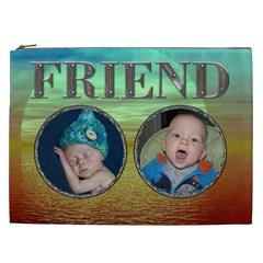 Friend Xxl Cosmetic Bag By Lil    Cosmetic Bag (xxl)   Keycxeg0krsm   Www Artscow Com Front