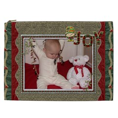 Christmas Joy Xxl Cosmetic Bag By Lil    Cosmetic Bag (xxl)   O817zdcrv2k6   Www Artscow Com Front