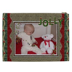 Christmas Joy Xxl Cosmetic Bag By Lil    Cosmetic Bag (xxl)   O817zdcrv2k6   Www Artscow Com Back