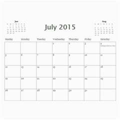 All Occassion 2015 Calendar By Kim Blair   Wall Calendar 11  X 8 5  (12 Months)   1snxrwa2zqcy   Www Artscow Com Jul 2015