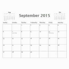 All Occassion 2015 Calendar By Kim Blair   Wall Calendar 11  X 8 5  (12 Months)   1snxrwa2zqcy   Www Artscow Com Sep 2015