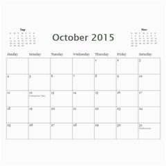 All Occassion 2015 Calendar By Kim Blair   Wall Calendar 11  X 8 5  (12 Months)   1snxrwa2zqcy   Www Artscow Com Oct 2015