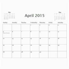 All Occassion 2015 Calendar By Kim Blair   Wall Calendar 11  X 8 5  (12 Months)   1snxrwa2zqcy   Www Artscow Com Apr 2015