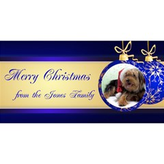 Merry Christmas 3d Card Blue By Deborah   Merry Xmas 3d Greeting Card (8x4)   1sgyl1pbw51j   Www Artscow Com Front