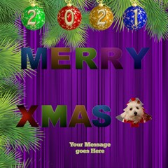 It Is A Merry Christmas 3d Card By Deborah   Merry Xmas 3d Greeting Card (8x4)   Uerjal0rq61w   Www Artscow Com Inside
