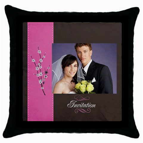 Wedding By Jacob   Throw Pillow Case (black)   7anln1kg89or   Www Artscow Com Front