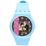 wedding - Round Plastic Sport Watch (M)