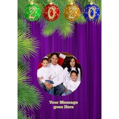 It Is A Merry Christmas Circle 3d Card By Deborah   Circle Bottom 3d Greeting Card (7x5)   Y6egvxplcuhl   Www Artscow Com Inside