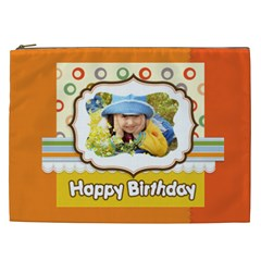Happy Birthday By Divad Brown   Cosmetic Bag (xxl)   R5vy7q3lkyua   Www Artscow Com Front