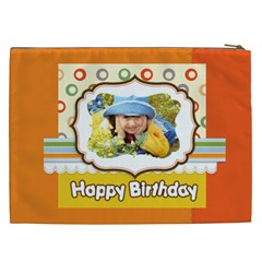 Happy Birthday By Divad Brown   Cosmetic Bag (xxl)   R5vy7q3lkyua   Www Artscow Com Back