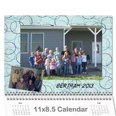 Bertram 2013 By Stacy   Wall Calendar 11  X 8 5  (12 Months)   Rfjxqhemkp63   Www Artscow Com Cover
