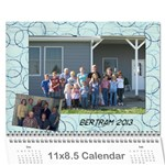 Bertram 2013 - Wall Calendar 11  x 8.5  (12-Months)