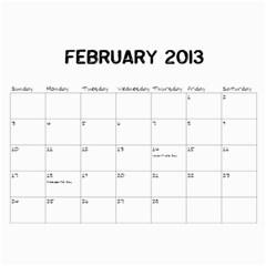 Bertram 2013 By Stacy   Wall Calendar 11  X 8 5  (12 Months)   Rfjxqhemkp63   Www Artscow Com Feb 2013