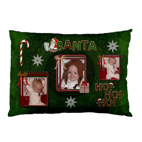 Sant Pillow Case By Lil    Pillow Case   0utcbdaaids5   Www Artscow Com 26.62 x18.9 Pillow Case