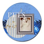 pets - Collage Round Mousepad