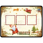 Merry Christmas Extra Large Fleece Blanket - Fleece Blanket (Large)