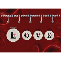 Love Story 7x5 3d Card By Lil    Heart Bottom 3d Greeting Card (7x5)   Lthq70zrwlmx   Www Artscow Com Front