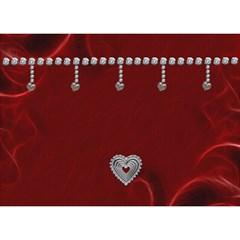 Love Story 7x5 3d Card By Lil    Heart Bottom 3d Greeting Card (7x5)   Lthq70zrwlmx   Www Artscow Com Back
