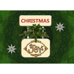 Christmas 7x5 3d Card By Lil    Heart Bottom 3d Greeting Card (7x5)   737nptzsmul4   Www Artscow Com Front