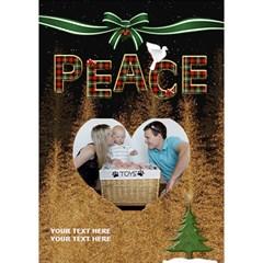 Peace 7x5 3d Card By Lil    Heart Bottom 3d Greeting Card (7x5)   C1jo5hsbov18   Www Artscow Com Inside