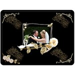 Twin Swans Romantic  Fleece Blanket - Fleece Blanket (Large)