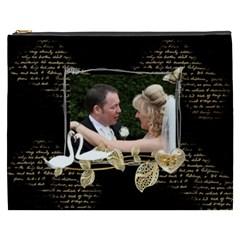 Twin Swans  Xxxl  Gift Cosmetics Bag By Catvinnat   Cosmetic Bag (xxxl)   J1skqgnebpyh   Www Artscow Com Front