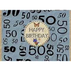 50th Birthday 7x5 3d Card By Lil    Heart Bottom 3d Greeting Card (7x5)   S2xtec1eolbm   Www Artscow Com Back
