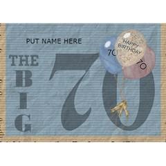 70th Birthday 7x5 3d Card By Lil    Heart Bottom 3d Greeting Card (7x5)   Sg46pu5kjuu0   Www Artscow Com Front