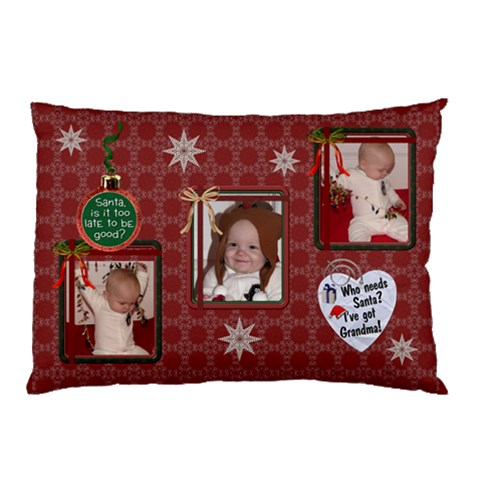 Santa Is Coming Pillow Case By Lil    Pillow Case   Fvzfnrda3327   Www Artscow Com 26.62 x18.9 Pillow Case
