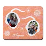Large Mousepad - Orange & Pink