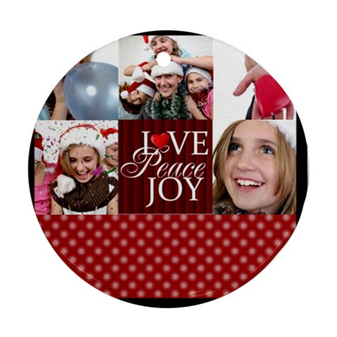 Xmas By M Jan   Ornament (round)   Go0xythiptec   Www Artscow Com Front