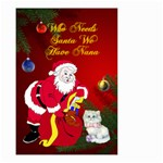 Who Needs Santa Small Garden Flag 2 sides - Small Garden Flag (Two Sides)