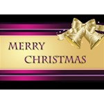 My Pink Merry Christmas 3D Card - Heart Bottom 3D Greeting Card (7x5)