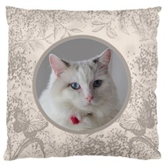 Coffee And Cream Large Cushion Case (2 Sided) By Deborah   Large Cushion Case (two Sides)   3p8ah5td7m4b   Www Artscow Com Front