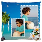 Beach House Large Cushion Case (2 sided) - Large Cushion Case (Two Sides)