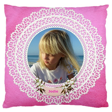 Lace Large Cushion Case By Deborah   Large Cushion Case (one Side)   T0yukwd5w8eu   Www Artscow Com Front