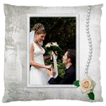 Our Wedding Large Cushion Case (2 sided) - Large Cushion Case (Two Sides)