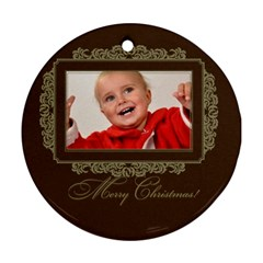 Xmas By Man   Round Ornament (two Sides)   Zigf791oumov   Www Artscow Com Front