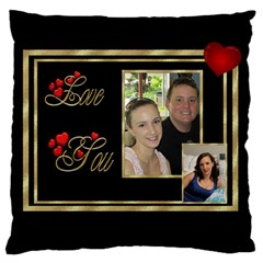 Love You Large Cushion Case (2 Sided) By Deborah   Large Cushion Case (two Sides)   Epd0hzlo55jt   Www Artscow Com Front
