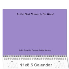 Mom By Josh   Wall Calendar 11  X 8 5  (12 Months)   Zhxscff37ojt   Www Artscow Com Cover